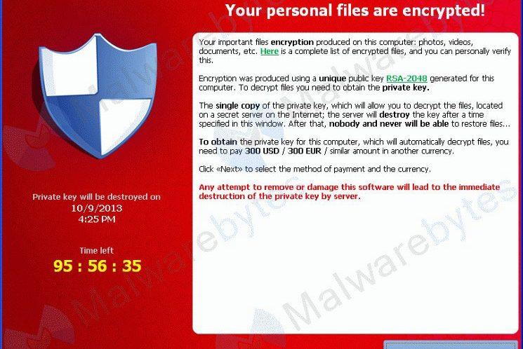Ransomware - نرم افزار اخاذی فایل های عکس، ویدیو و متنی
